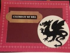 Masculine Dragon Birthday Card, cut with Silhouette Cameo. A little Game of Thrones-ish