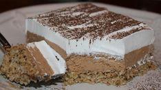 Jako fin i kremast kolac sa orasima i kokosom…Male domacice… Sweet Desserts, No Bake Desserts, Sweet Recipes, Delicious Desserts, Bosnian Recipes, Croatian Recipes, Baking Recipes, Cake Recipes, Dessert Recipes