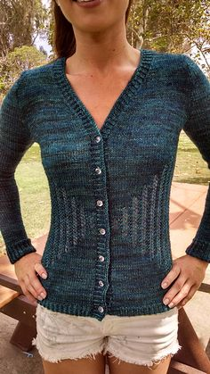 Ravelry: Rippled cardigan pattern by Klever Knits