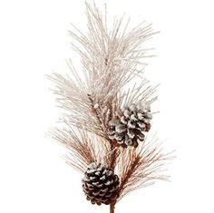 """RAZ Imports - Walking in the Woods - 28.5"""" Snowy Pine Spray"""