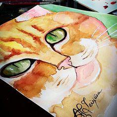 Gatinho watercolor