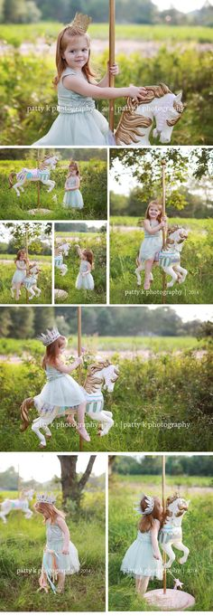 Carousel Horse Minis | Imagination Session | Evelyn | Raeford, NC Child Photographer | Patty K Photography