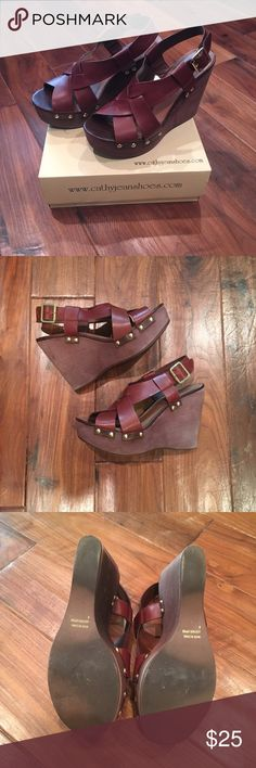 Wedge Shoes Cute and great with jeans, dresses and shorts. Good condition. Cathy Jean Shoes Platforms