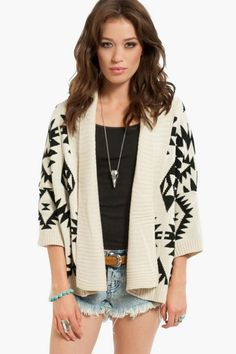 3/4 Sleeves Aztec Cardigan