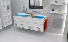 Ideal! Modern Bathroom Furniture with Baby Washbasin by Herms