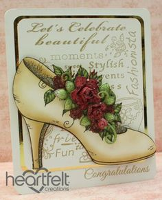 Congrats Red Roses Shoe Card