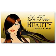 Beauty Salon III Hair Makeup Nails Spa Treatments Business Cards