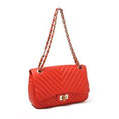 Park Ave Shoulder Bag: Orange