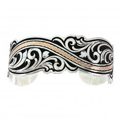 River of Rose Gold Scroll Cuff Bracelet (BC3095RG) | Montana Silversmiths