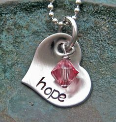 Hand Stamped Jewelry Hope Necklace Mommy by AnotherDayBoutique