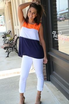 Stitched Color Block Tank