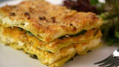 Butternut and sweet potato lasagne by BBC Lorraine Pascale - looks delish and great vegetarian dish.