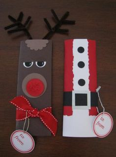 Ideas- Make as candy bar covers OR gift wrap, tree ornaments, box towers, door decor.