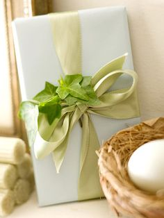 Natural accents make for wonderful gift toppers! More wrapping inspiration: http://www.bhg.com/christmas/crafts/creative-christmas-gift-bows-and-trims/?socsrc=bhgpin120712naturalbow=12