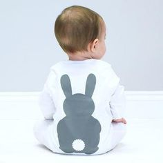 Bunny Rabbit Baby Sleepsuit -Give a Christening gift that shows they are truly cherished. Thoughtful and original, lots of the products can be personalised as they are created by talented independent designers or small creative businesses.