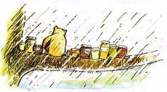 Pooh and his hunny jars
