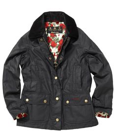 liberty for barbour Ivy League Style, Wax Jackets, Barbour, Preppy, Liberty, Bomber Jacket, Denim, Clothes, Girls