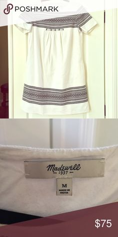 Madewell Shift Dress Madewell Embroided Shift Dress. Like New. Excellent Condition Madewell Dresses Mini