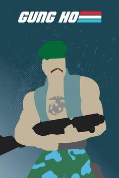 G.I. Joe Poster: Gung Ho (Minimalist Design)
