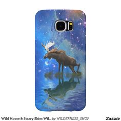 Wild Moose & Starry Skies Wildlife Samsung Galaxy S6 Cases and other models!