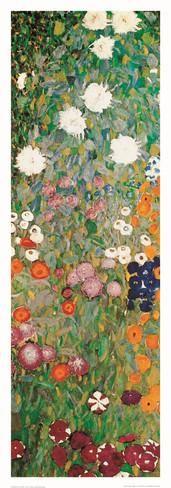 Jardín de flores (detalle) Lámina por Gustav Klimt en AllPosters.es