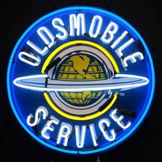 """The brightest addition to any Oldsmobile collection. - Sign is 24"""" X 24"""". - 100% hand made, gas-filled, real glass tube. - Ideal for clubs, man caves, and home recreation."""