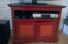 Oud TV kastje. Gedateerde kleuren