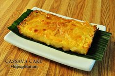 Cassava Cake (replace the margarine with butter and you have possibly the best cassava cake recipe I've ever tried)