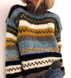 Knitting Kits, Sweater Knitting Patterns, Knitting Sweaters, Pullover Sweaters, Hand Knitted Sweaters, Fall Outfits, Cute Outfits, Fashion Outfits, Stylish Outfits