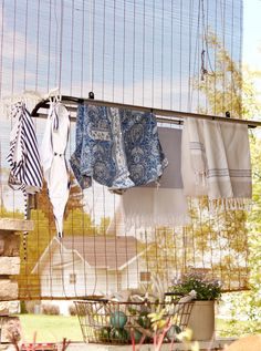 Ceiling Mounted Clothes Drying for indoor or outdoor use by The New Clothesline Company!