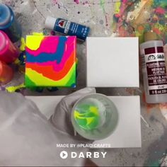 4 DIY Paint Pouring Techniques with Acrylic Paint: Direct Pour, Dirty Pour, Blown Flower & Swipe #darbysmart #diy #diyprojects #diyideas #diycrafts #easydiy #artsandcrafts #paintpouring
