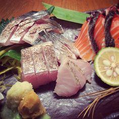Aburi sawara / seared spanish mackerel sashimi