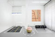 alberto biagetti and laura baldassari reappropriates gym apparatus into furniture