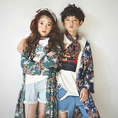 Kim Juhoon & Park Hyoje Trendy Kids, Cute Kids, Cute Babies, Baby Kids, Korean Babies, Asian Babies, Couple Outfits, Kids Outfits, Toddler Fashion
