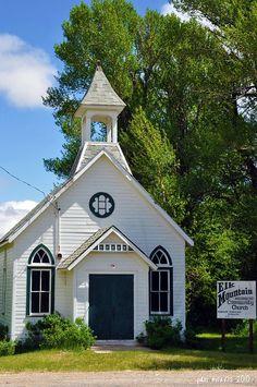 Elk Mountain, WY-the cute church in my sweet gpa's tiny town.