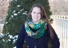 Multicolor Knit Infinity Scarf  by AmandaPandaCrafts on Etsy, $22.00