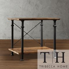 TRIBECCA HOME Myra Vintage Industrial Modern Rustic End Table | Overstock.com Shopping - Great Deals on Tribecca Home Coffee, Sofa & End Tab...