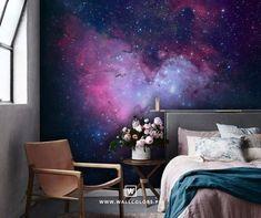 05ec9f80de3056 Diamond Galaxy Cloud Glitter Wallpaper - Purple and Pink - Arthouse ...
