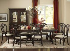 Grandover Dining Set With Large Extension Table 4904-DSB1