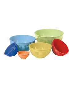 Look at this Ribbed Mixing Bowl Set on #zulily today!