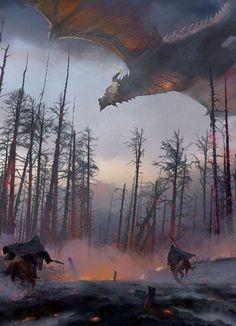 Dragon Hunters by Findara McAvinchey #FantasyLandscaping