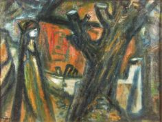 Truncated Tree (1944) by Imre Amos (Jewish-Hungarian:1907-1944)