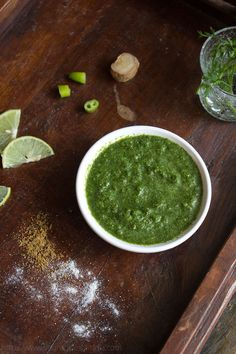 mint-coriander-chutney-recipe1 cup fresh chopped mint leaves/pudina 1 cup fresh chopped coriander/cilantro leaves 1 green chilli ( add more chillies if you want the chutney to be spicy) ½ inch ginger 1 tsp cumin powder – optional 1 or 2 tbsp lemon juice – optional salt or black salt or rock salt