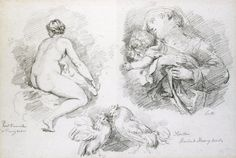 The Athenaeum - Sheet of Studies after Veronese, Bassano and Lotto (Jean-Honore Fragonard - )