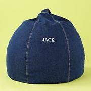 The Land of Nod | Kids' Bean Bags & Floor Cushions: Kids Denim Beanbag Chair in Beanbags