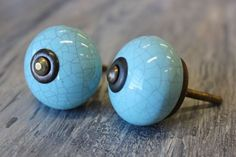 Blue Ceramic Crackle Knobs available at Interiors To Inspire in Calgary, Alberta Canada. Click on the image above to shop our online store.