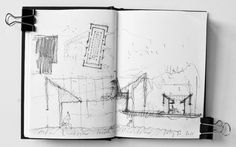 Serpentine Gallery Pavilion 2011 designed by Peter Zumthor – Josep K Peter Zumthor, Architecture Sketchbook, Ancient Architecture, Art And Architecture, Sustainable Architecture, Reflective Journal, Conceptual Sketches, Notebook Sketches, Hand Sketch