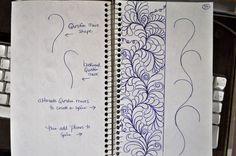 May Your Bobbin Always Be Full: Sketch Book.....Border Designs - 1