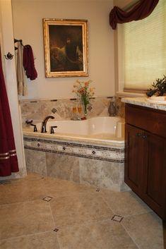 Jacuzzi Suite - Amid Summer's Inn Bed and Breakfast - Cedar City, Utah Jacuzzi Bathroom, Small Bathroom, Master Bathroom, Jacuzzi Tub, Corner Tub, Tub Tile, Master Bath Remodel, Garden Tub, Bathroom Design Luxury