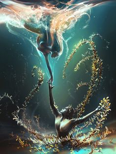 Underwater Ballet by AquaSixio.deviantart.com on @DeviantArt